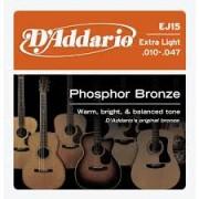 D'Addario EJ15 Phosphor Bronze 10-47 húrkészlet