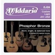 D'Addario EJ26 Phosphor Bronze 11-52 húrkészlet
