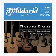 D'Addario EJ16 Phosphor Bronze 12-53 húrkészlet
