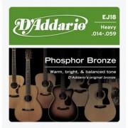 D'Addario EJ18 Phosphor Bronze 14-59 húrkészlet