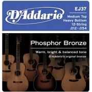 D'Addario EJ37 Phosphor Bronze 12-54 húrkészlet