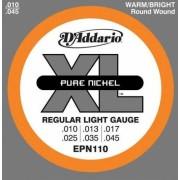 D'Addario EPN110 Pure Nickel 10-45 húrkészlet