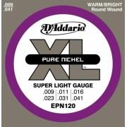 D'Addario EPN120 Pure Nickel 09-41 húrkészlet