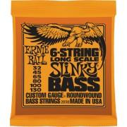 Ernie Ball Slinky Bass 6-húros 32-130 készlet