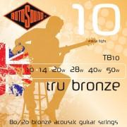 Rotosound 80/20 bronz húrkészlet 10-50