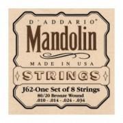D'Addario EJ62 10-34-es80/20-as bronzkészlet